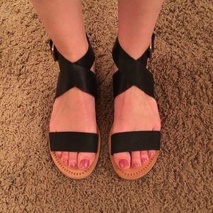 DOLCE VITA Black Strappy Sandals